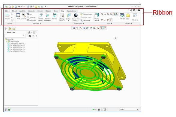 Porozumenie Ribbonu V Creo Parametric 2 0 Ipm Solutions